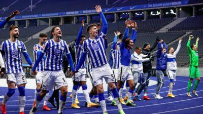 Igrači Herte na zanimljiv način proslavili pobedu protiv Berlina