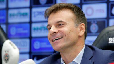 Trener Partizana Aleksandar Stanojevic zadovoljan posle 100. pobede na klupi crno-belih (VIDEO)