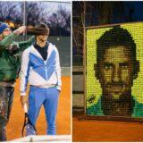Velika čast za Novaka. Osvanuo portret sa njegovim likom od teniskih loptica (VIDEO)