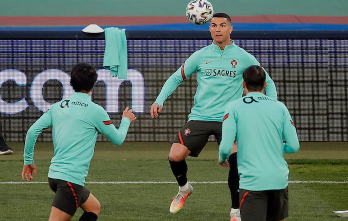 Ronaldo u odličnom raspoloženju pred duel sa Srbijom (FOTO)